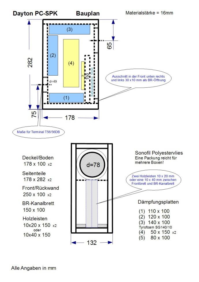 Dayton PC-SPK Bauplan 689x974