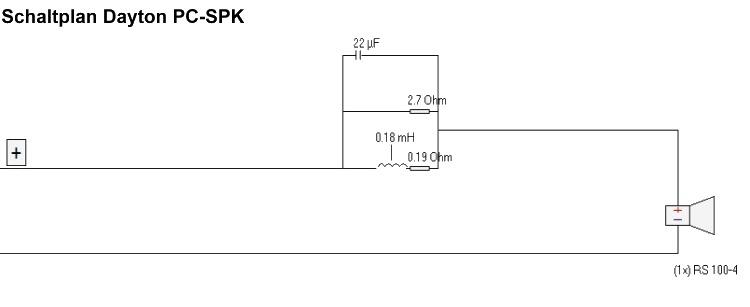Dayton PC-SPK Schaltplan 750x307